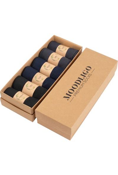 MOODLIGO Premium 2 Siyah 2 Lacivert 2 Füme Bambu Çorap
