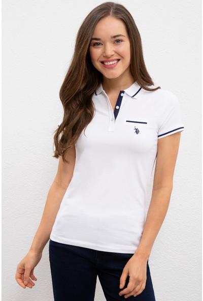 U.S. Polo Assn. Kadın Beyaz T-Shirt 50225753-VR013