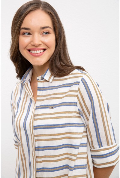 U.S. Polo Assn. Kadın Yeşil Gömlek Uzunkol 50218853-VR027