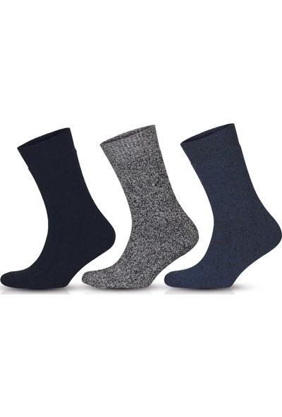 Go With Norveç Tipi Havlulu Yünlü Kışlık Soft Çorap 3 Çift