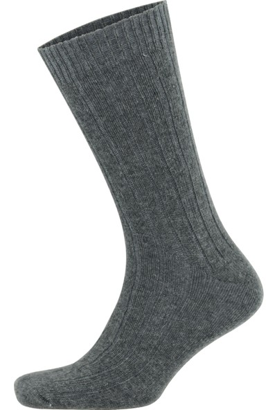 Go With Alpaka Doğal Yün Ince Örgü Renkli Soft Çorap 4 Çift