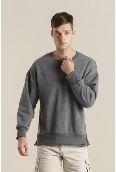 Oksit Crash Cegg Fermuar Detaylı Oversize Sweatshirt