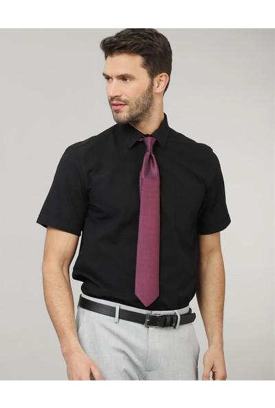 Tudors Klasik Fit Kısa Kol Düz Erkek Gömlek