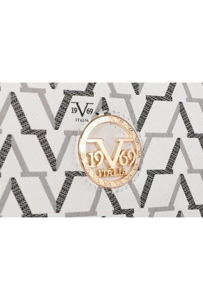 19V69 Italia 5185 Beyaz Kadın Sırt Çantası
