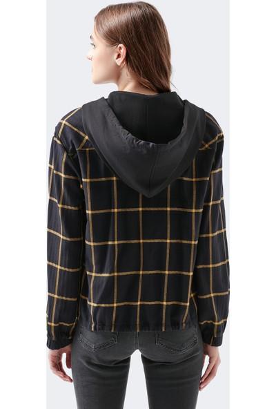 Mavi Kapüşonlu Siyah Gömlek 121938-900