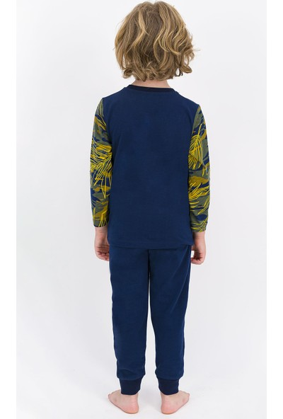 U.S. Polo Assn Lisanslı Lacivert Erkek Çocuk Pijama Takımı