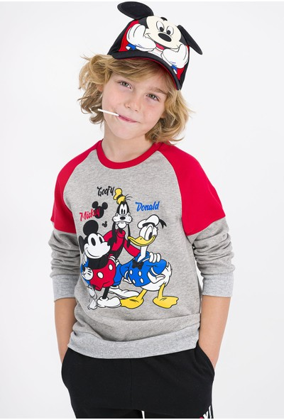 Mickey Mouse Lisanslı Grimelanj Erkek Çocuk Eşofman Takımı
