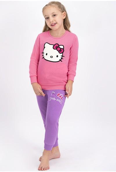 Hello Kitty Lisanslı Pembe Kız Çocuk Eşofman Takımı