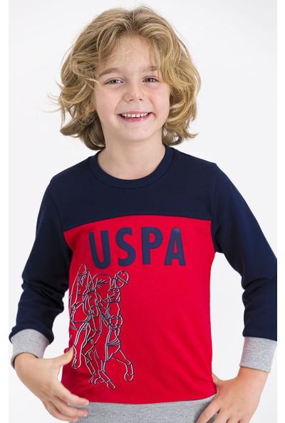U.S. Polo Assn Lisanslı Lacivert Erkek Çocuk Eşofman Takımı