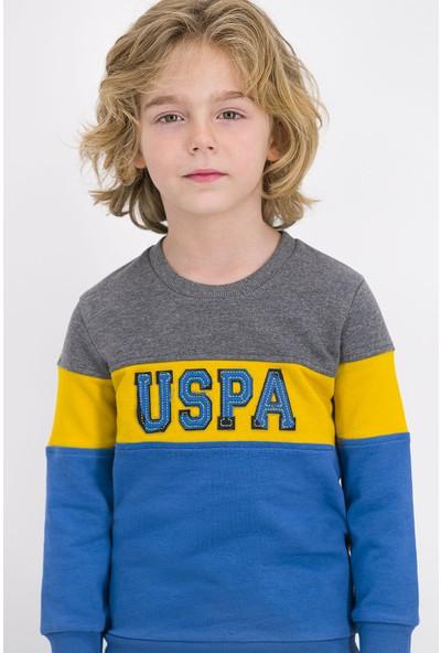 U.S. Polo Assn Lisanslı Koyu Grimelanj Erkek Çocuk Eşofman Takımı