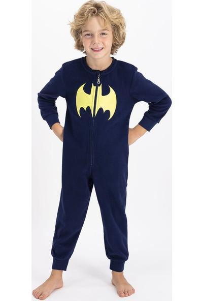 Batman Lisanslı Erkek Çocuk Lacivert Çocuk Tulum
