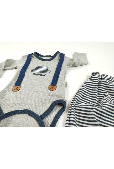 Necixs Baby Erkek Bebek Çıtçıtlı Body Ikili Takım