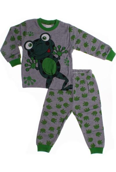 Süpermini Kurbağa Baskılı Pijama Takımı (1-3 Yaş)
