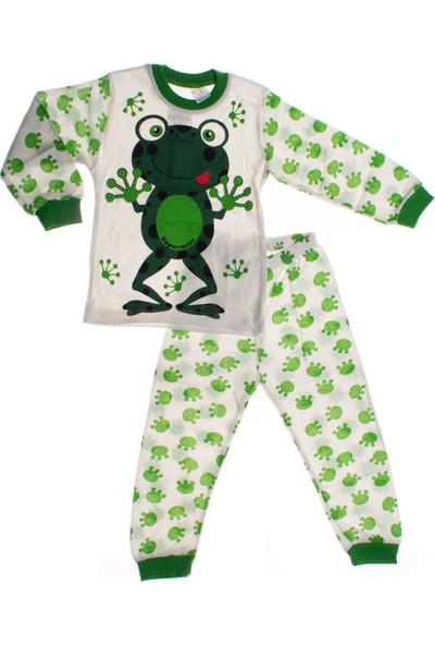 Süpermini Kurbağa Baskılı Pijama Takımı (4-6 Yaş)