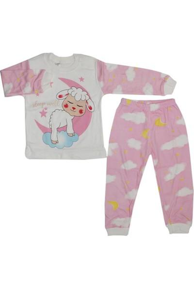 Süpermini Kuzulu Pijama Takımı Pembe