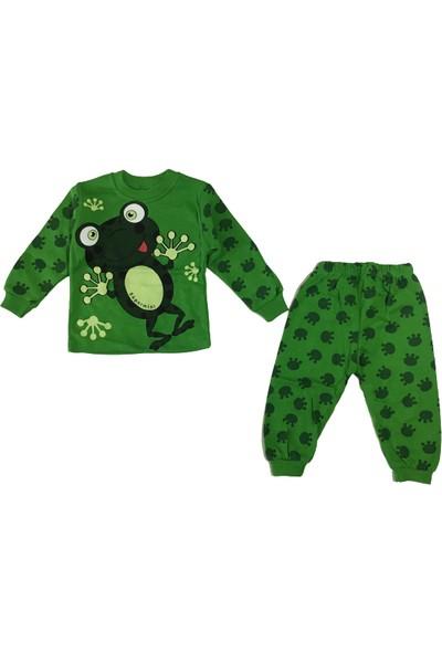 Süpermini Kurbağa Pijama Takımı Yeşil