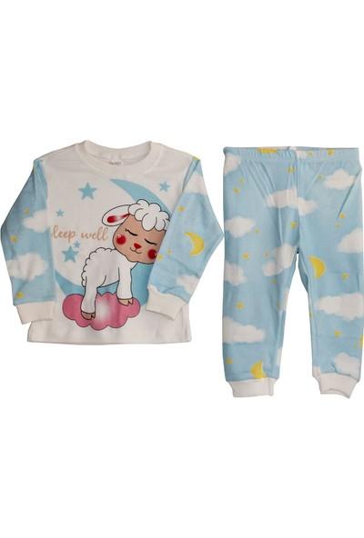 Süpermini Kuzulu Pijama Takımı Mavi