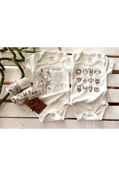 Coco&bamboo 2'li Ekru Bambu Kısa Kol Body