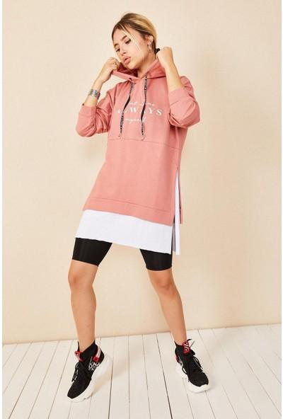 Morpi̇le Oversize Kapüşonlu Sweatshirt
