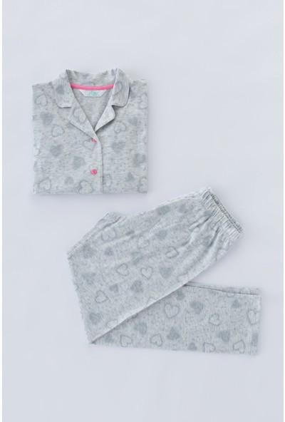 Penti Açık Gri Melanj Teen Galaxy 2li Pijama Takımı