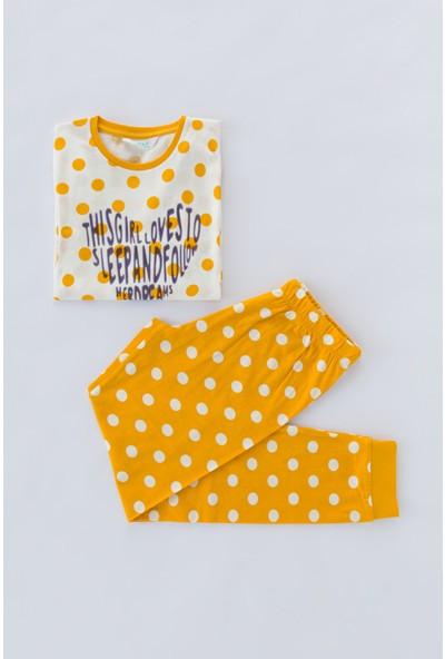 Penti Beyaz Sarı Teen Point 2li Pijama Takımı