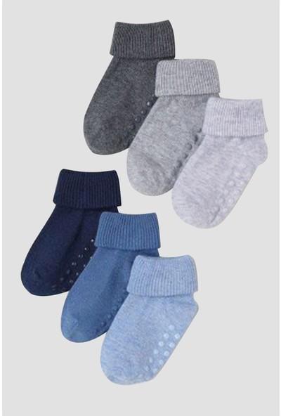 Mem Socks Kaydırmaz Çocuk Çorabı 6'lı