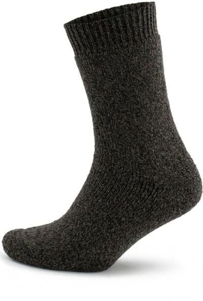 Norweger Norveç Tipi Havlulu Yünlü Kışlık Soft Termal Çorap 3 Çift 2038