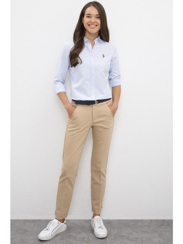 U.S. Polo Assn. Kadın Beyaz Spor Pantolon 50207470-VR085