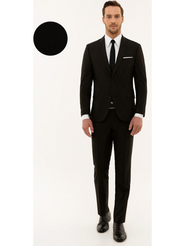 Pierre Cardin Erkek Siyah Slim Fit Takım Elbise 50230049-Vr046