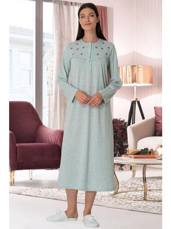 By Mecit Pijama Büyük Beden Kadın Gecelik 10120