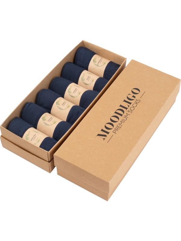 MOODLIGO Premium 6'lı Lacivert Bambu Çorap
