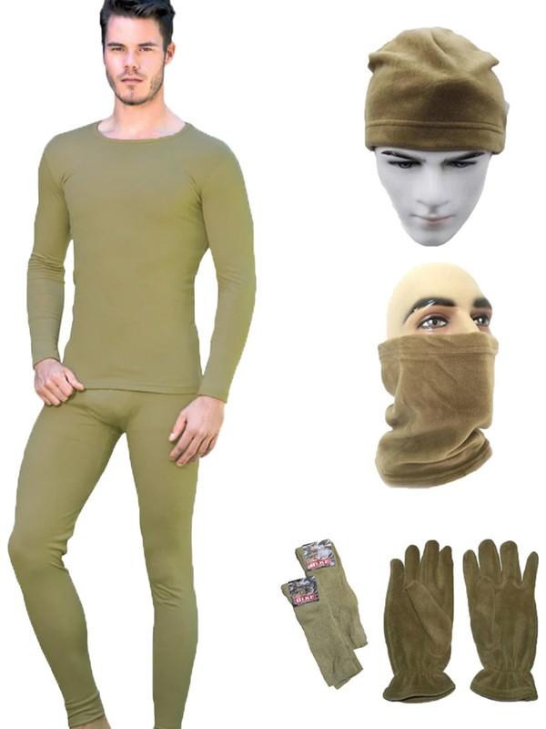 Askeri Termal Nano İçlik Takımı -Polar Bere Boyunluk Eldiven Çorap Seti - Asker Malzemeleri
