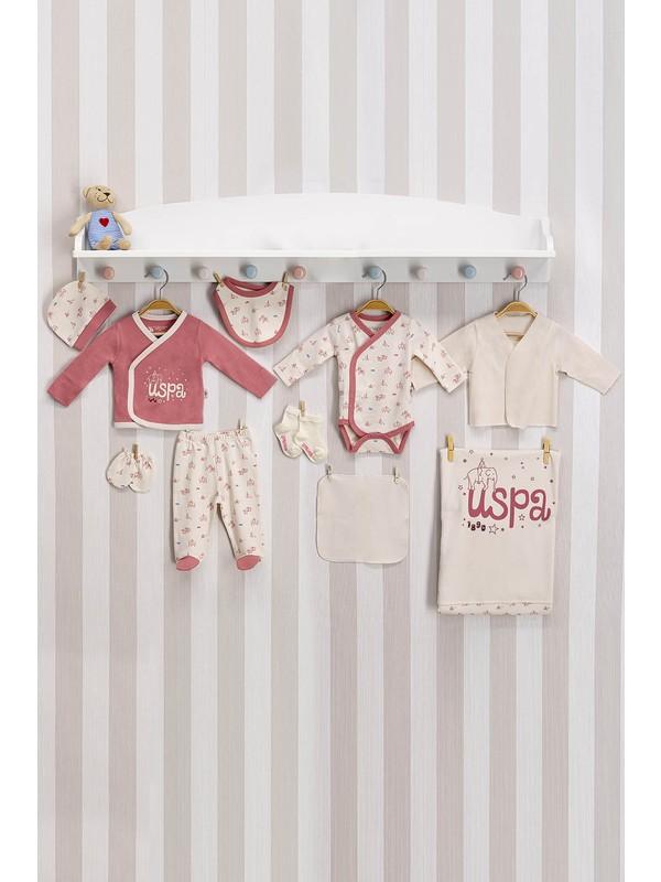 U.S. Polo Assn Lisanslı Pembe Bebek Hastane Çıkış Seti