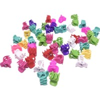 50 adet renkli küçük boy tırmık mandal toka kadın saç tokası