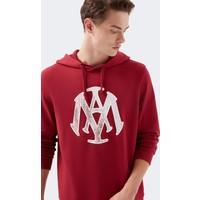 Mavi Erkek Mavi Mühür Logo Baskılı Kırmızı Sweatshirt 065753-32330