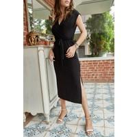 Xhan Kruvaze Kemerli Elbise 0YXK6-43374-02