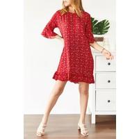 Xhan Çiçek Desenli Kısa Elbise 0YXK6-43568-04