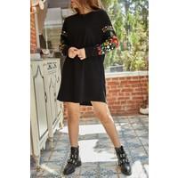 Xhan Kolları Çiçekli Elbise 9YXK6-41815-02