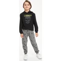 DeFacto Erkek Çocuk Baskılı Sweatshirt ve Eşofman Takım S0417A620AU