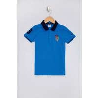 U.S. Polo Assn. Erkek Çocuk Mavi T-Shirt Basic 50222611-VR077