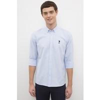 U.S. Polo Assn. Erkek Mavi Gömlek Uzunkol Basic 50233224-Vr003