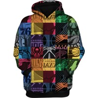 Starter All Team 3D Hoodie Sweatshirt