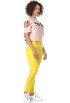 Enimon Cepli Pantolon Tayt 533 Sarı