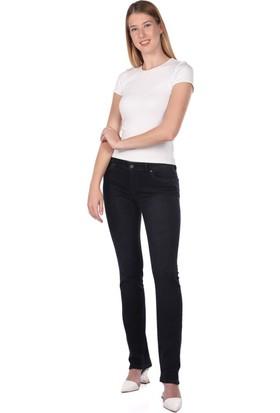 Blue White Düşük Bel Kadın Kot Pantolon