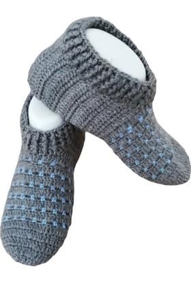 Nuh Home Kalın Kışlık El Yapımı Organik Kadın Patik Çorap