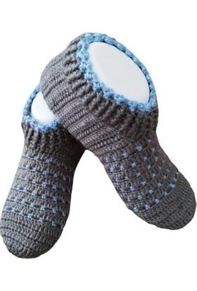 Nuh Home Kışlık Çorap El Yapımı Kalın Çorap