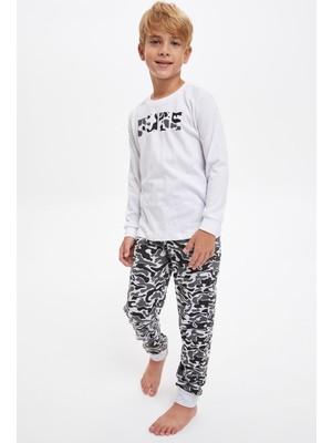 DeFacto Erkek Çocuk Baskılı Pijama Takım R9659A620AU
