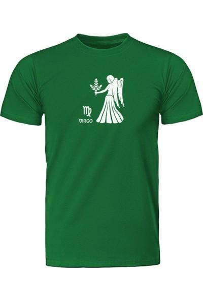 Fandomya Başak Burcu Yeşil Tişört