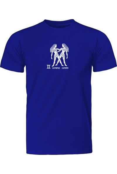 Fandomya Ikizler Burcu Mavi Tişört