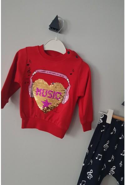 Krms Kız Bebek Değişebilen Pullu Music Baskı Alt Üst Takım